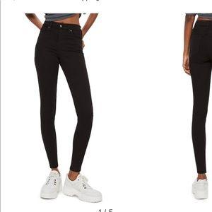 Topshop high waisted Jamie black jeans